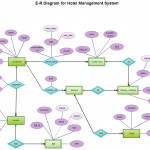 Entity Relationship In A Hotel Management System   Entity Pertaining To Er Diagram Examples For College Management System