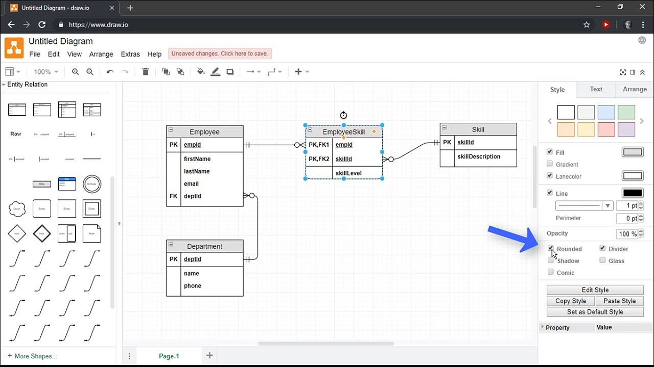 Creating Entity Relationship Diagrams Using Draw.io for Entity Relationship Diagram Tutorial