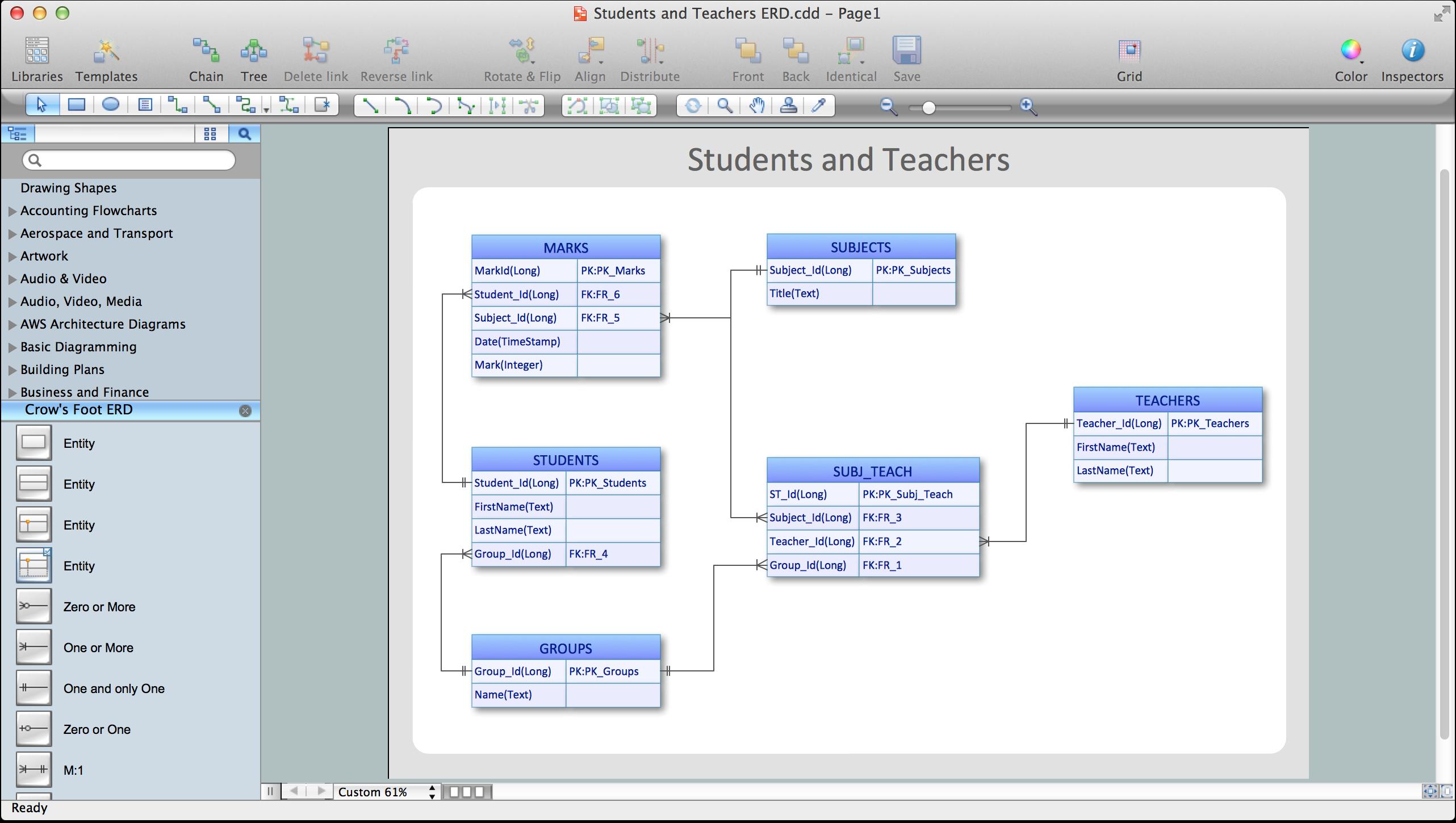 Entity-Relationship Diagram (Erd) With Conceptdraw Diagram with regard to Erd Diagram Online Free