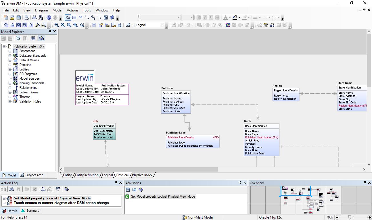 Erwin Data Modeling Tool