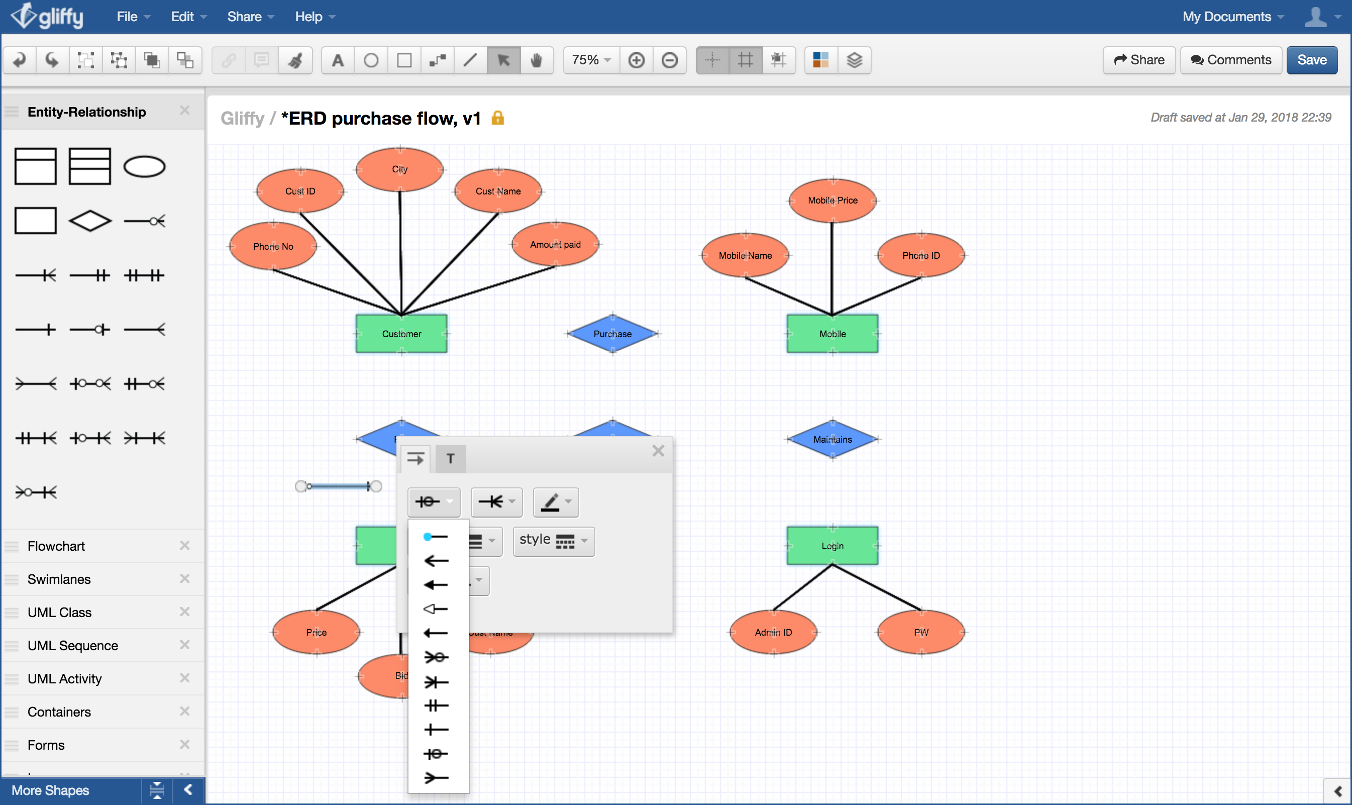 How To Draw An Entity-Relationship Diagram in Er Diagram Types