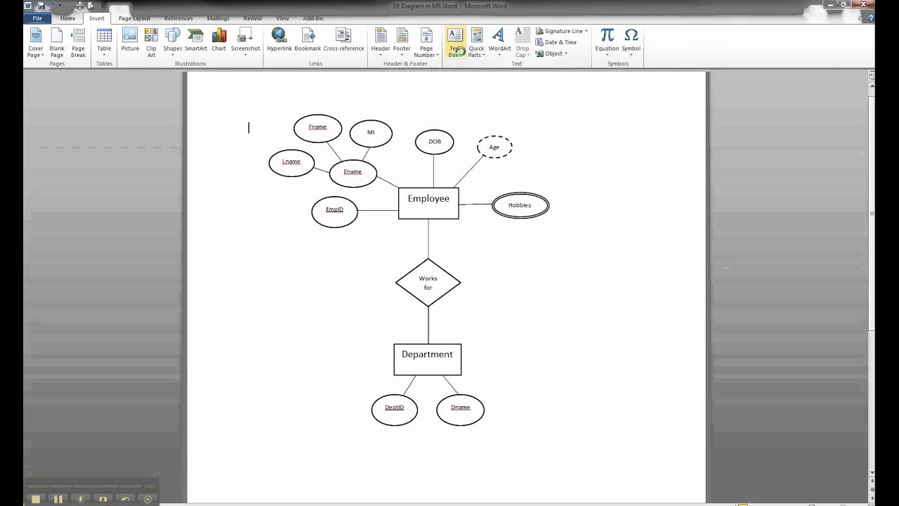 Er Diagram Microsoft Word