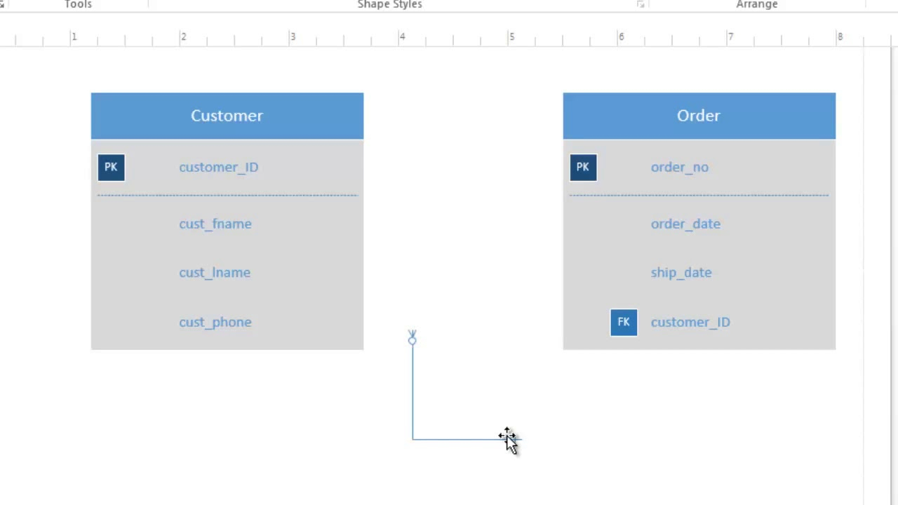 How To Use Visio 2016 For Conceptual Data Modeling And Er Diagram pertaining to Create Er Diagram Visio 2016