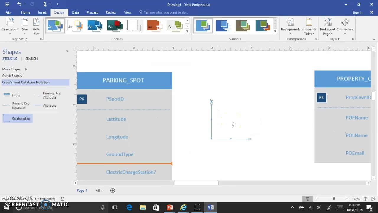 Visio 2016 Crows Foot Erd Interface Demo V2 intended for Create Er Diagram Visio 2016