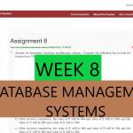 Week 8 Nptel || Database Management Systems (Dbms) Assignment  Answers/solutions (2020) Regarding Er Diagram Nptel