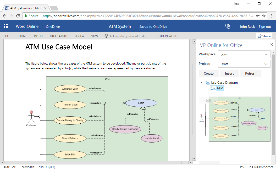 Embed Diagrams In Ms Office 365: How-To?