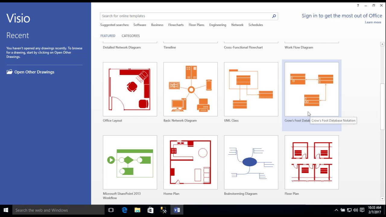 Visio Er Diagram Template