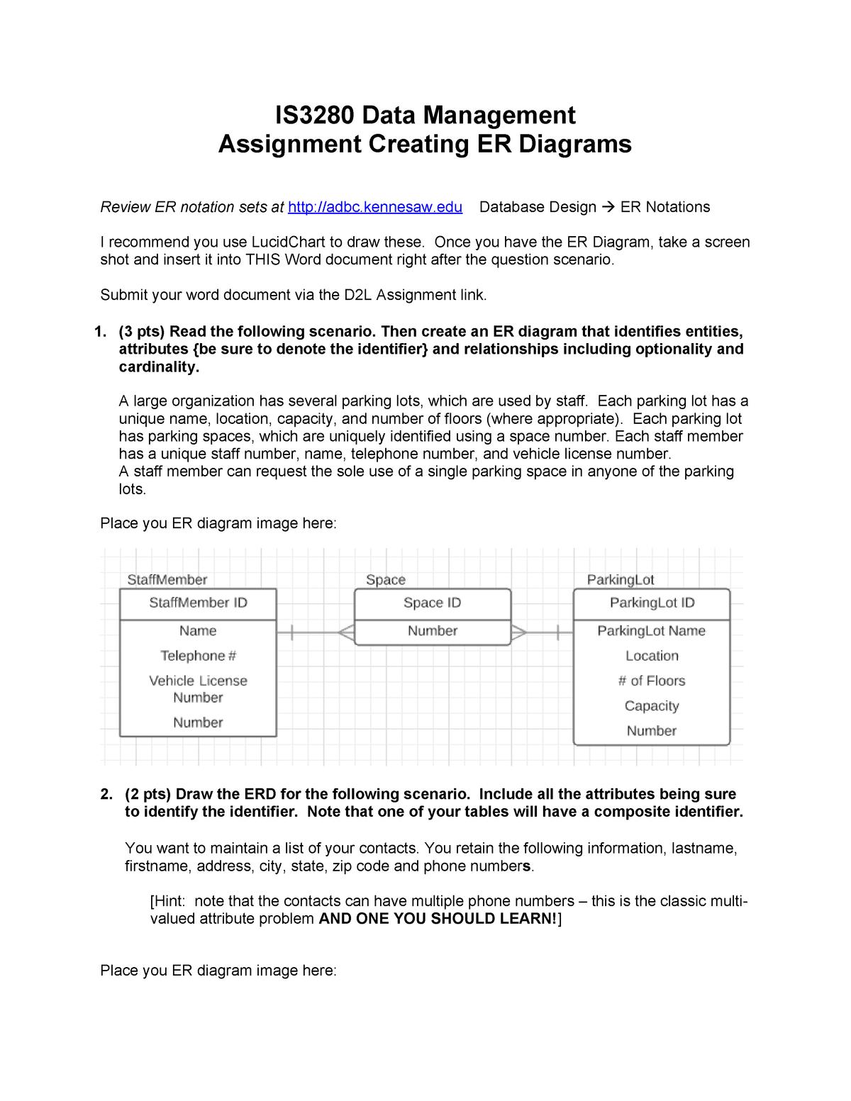 Erdassignment - Assignment For Module 2 - Is 3280 - Studocu