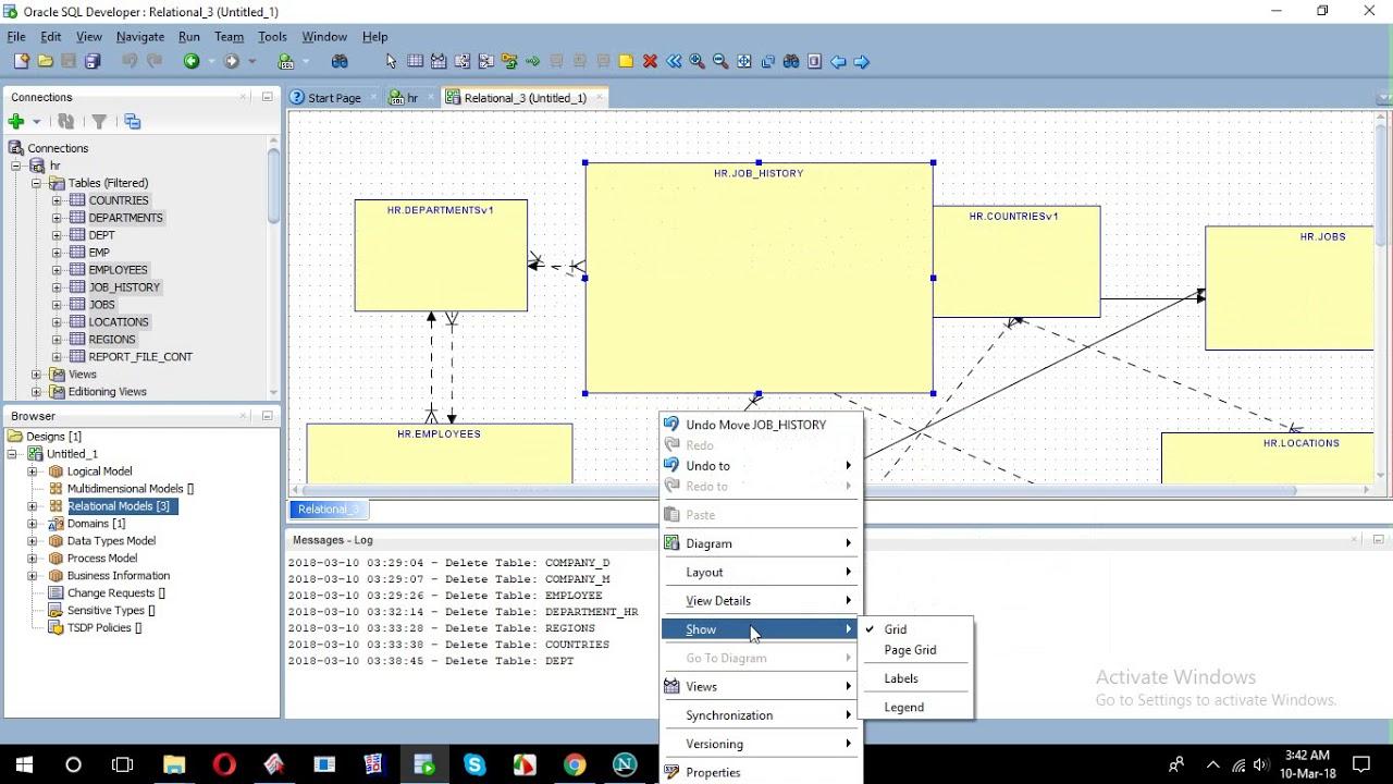 How To Create Erd From Sql Developer