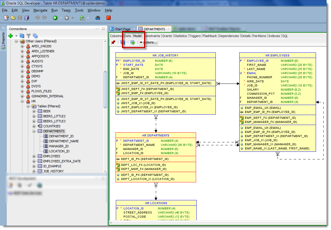 How To Create Er Diagram Using Sql Developer