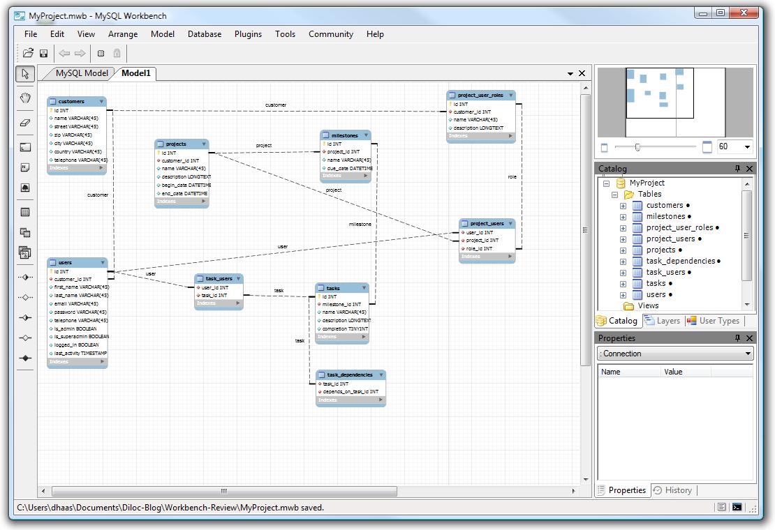 Mysql Workbench Eer Diagram Line Style Field-To-Field