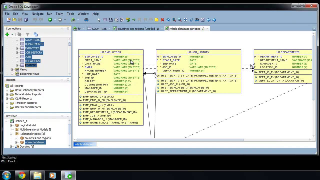 How To Create An Er Diagram In Sql Developer