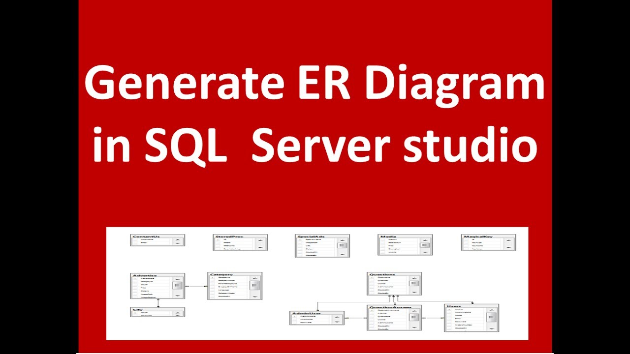 Create Er Diagram With Sql Server