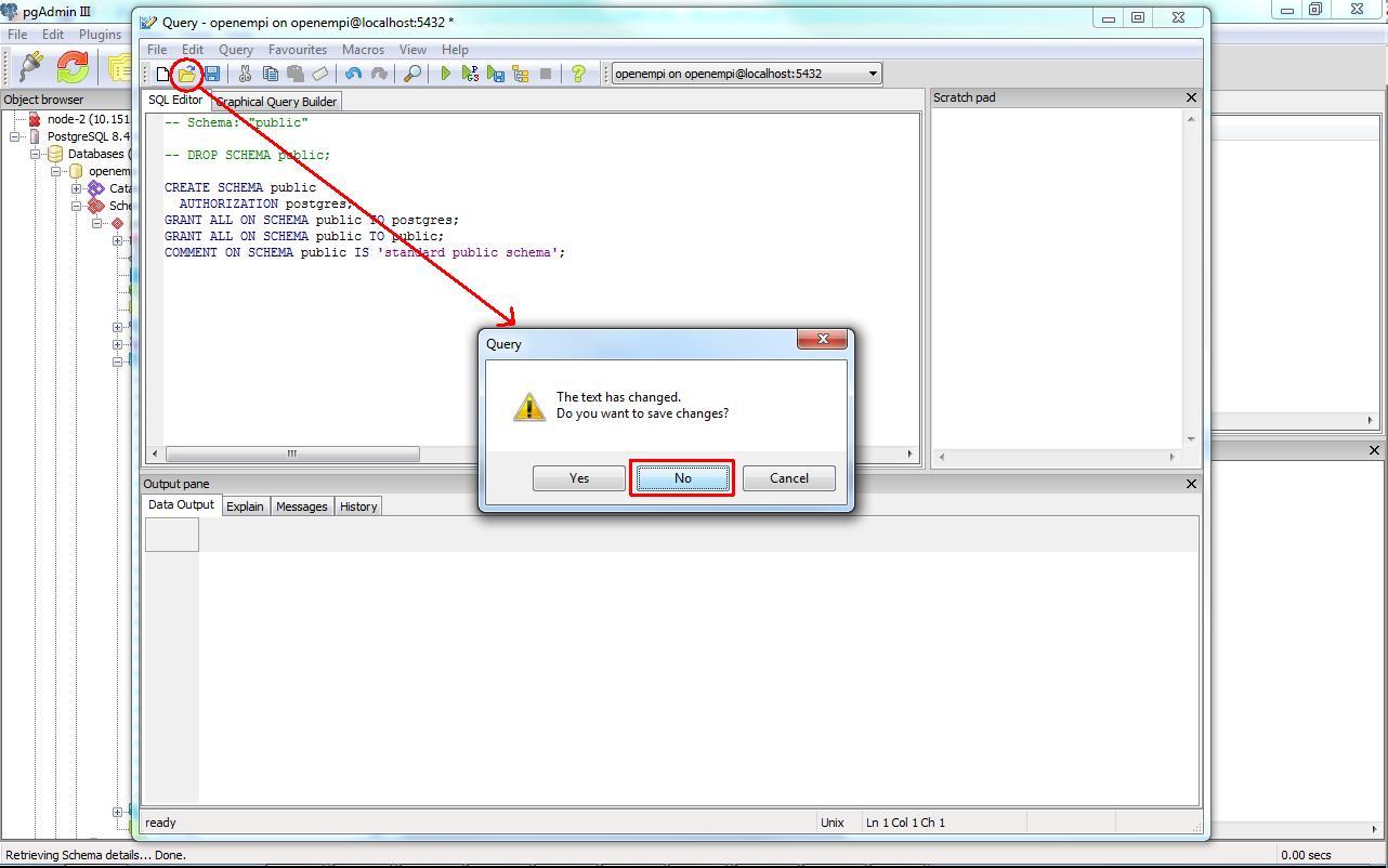 Creating Database Schema With Pgadmin Iii