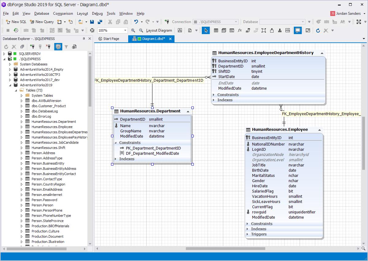 Database Diagram (Erd) Tool For Sql Server