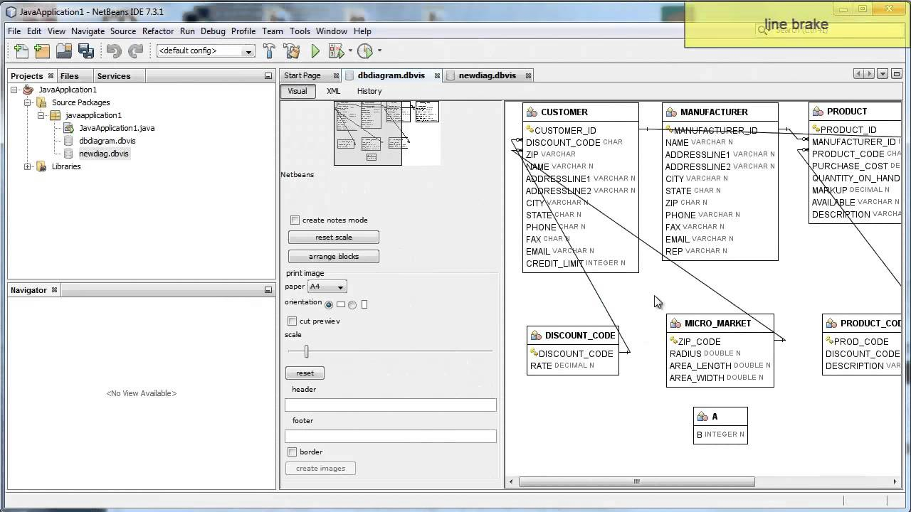 Database Er Diagram Viewer's Features