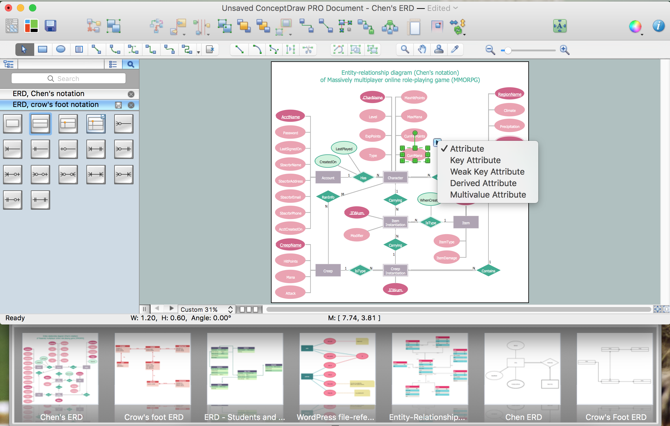 Drawing Er Diagrams On A Mac   Professional Erd Drawing