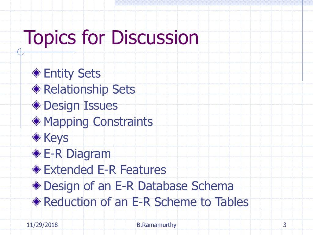 Entity-Relationship Model - Ppt Download
