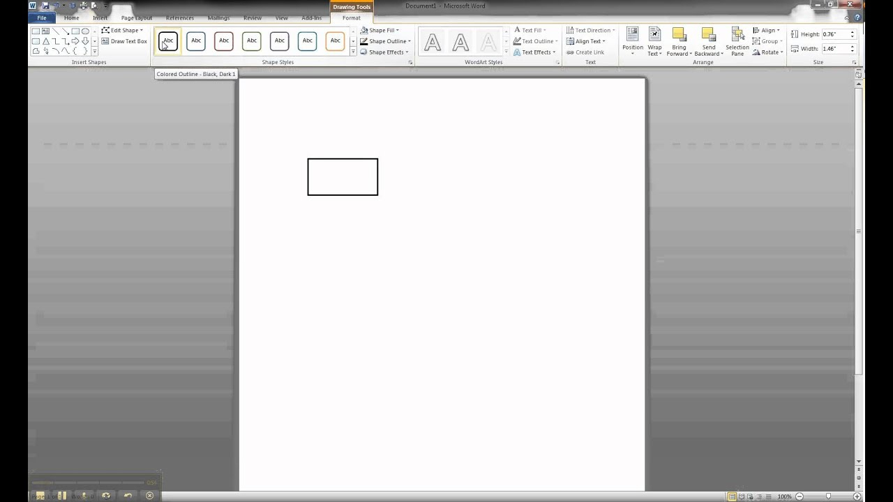 Er Diagram In Ms Word Part 1 - Creating A Strong Entity