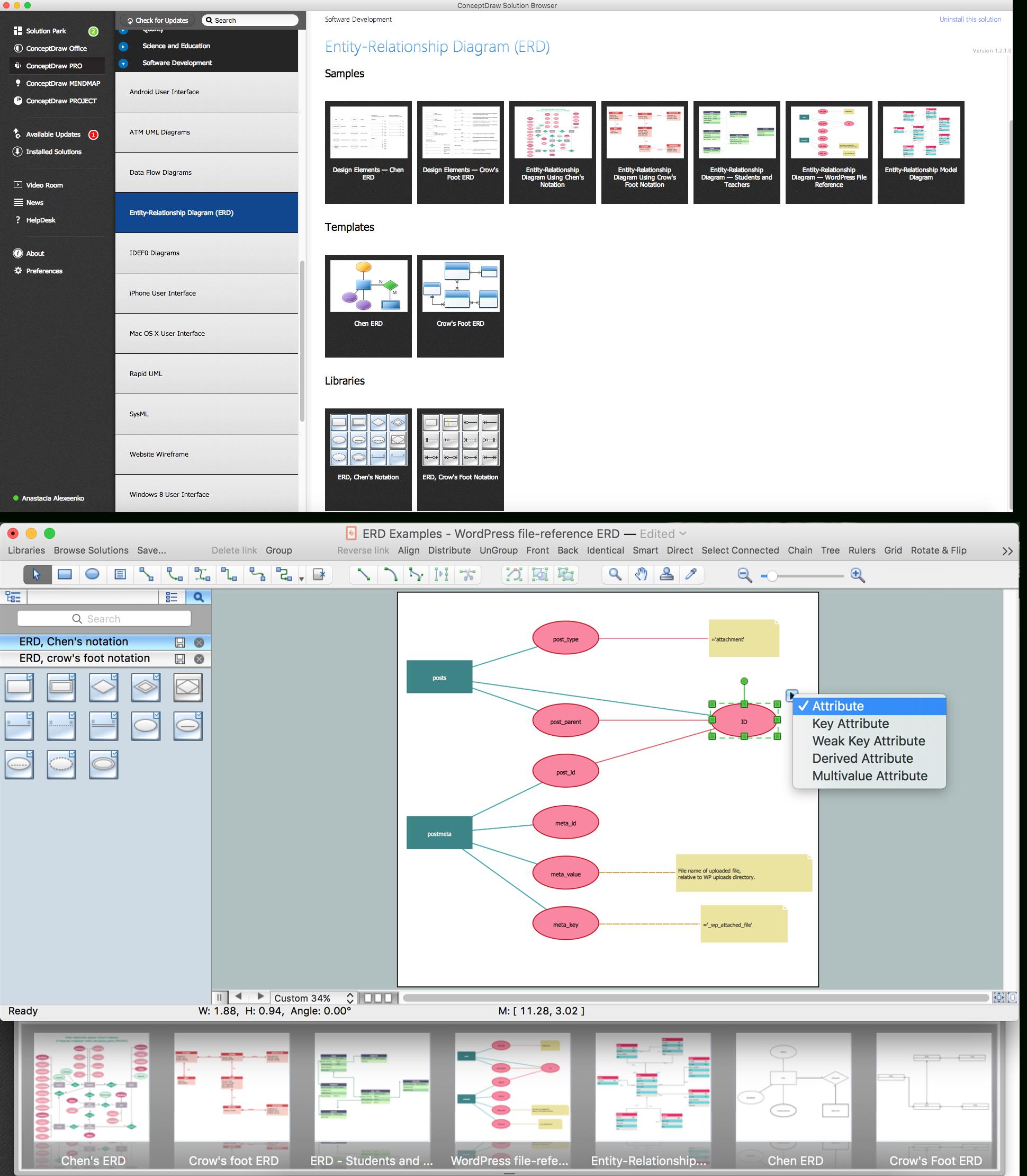Er Diagram Programs For Mac   Professional Erd Drawing
