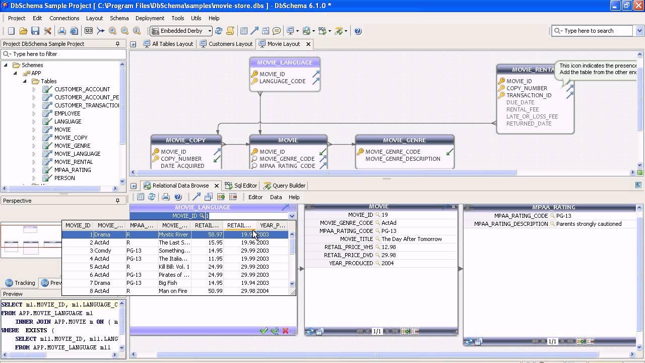 Er Diagram & Sql Database Tool : Dbschema - Youtube