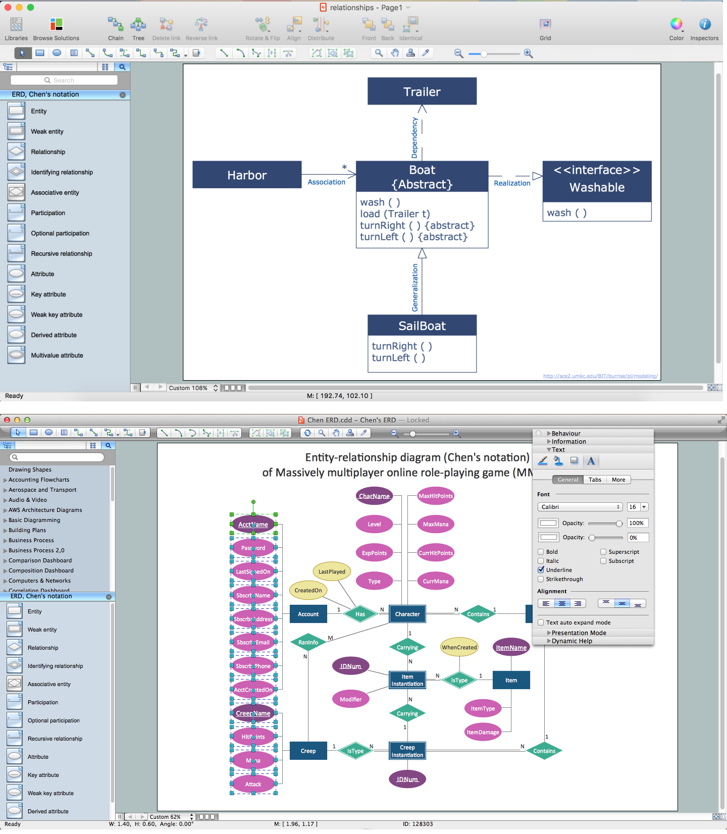 Er Diagram Tool Mac Er Diagram Software Conceptdraw For Mac