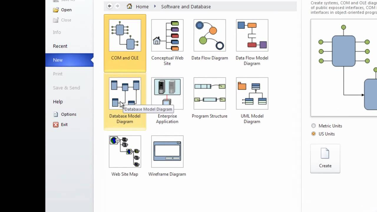 Visio 2010 Er Diagram Template