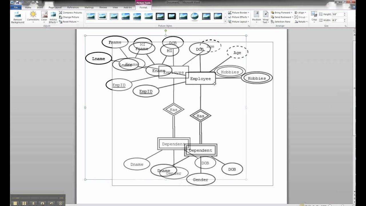 How To Draw An Er Diagram In Ms Word