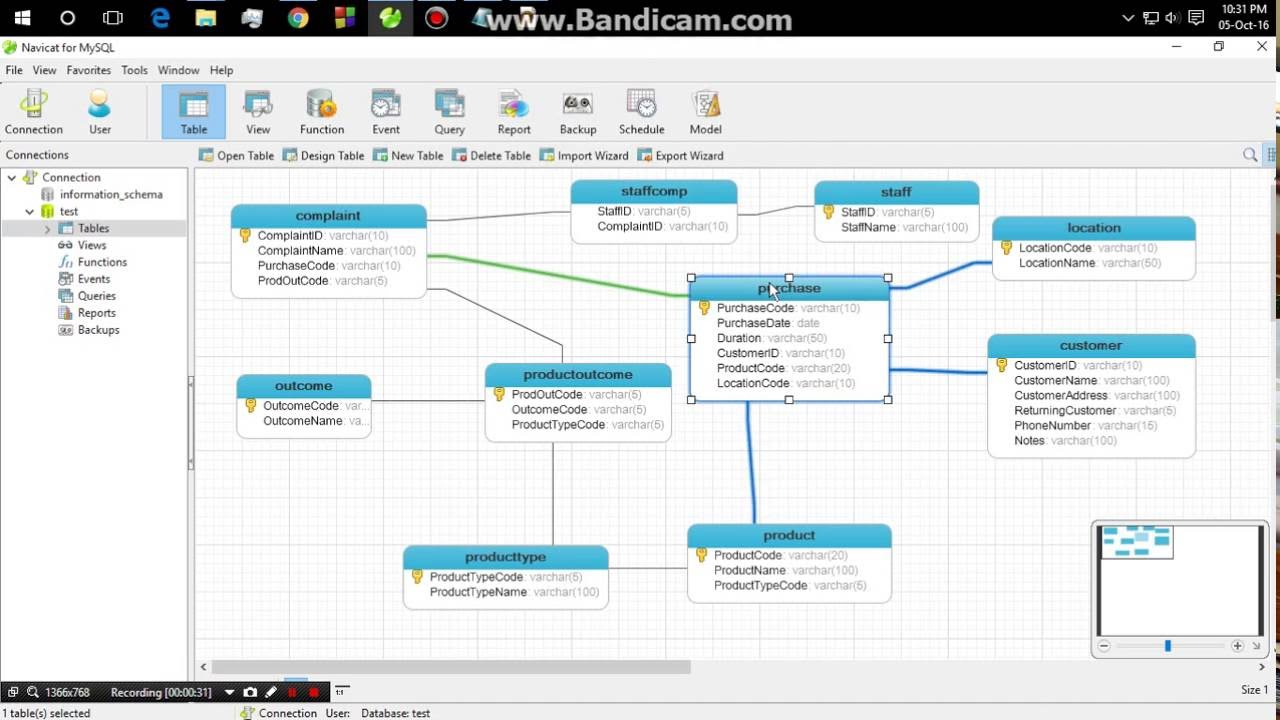 How To Auto Generate Erd From Navicat For Mysql - Youtube