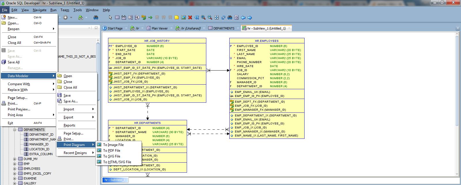How To Export Erd Diagram To Image In Oracle Data Modeler