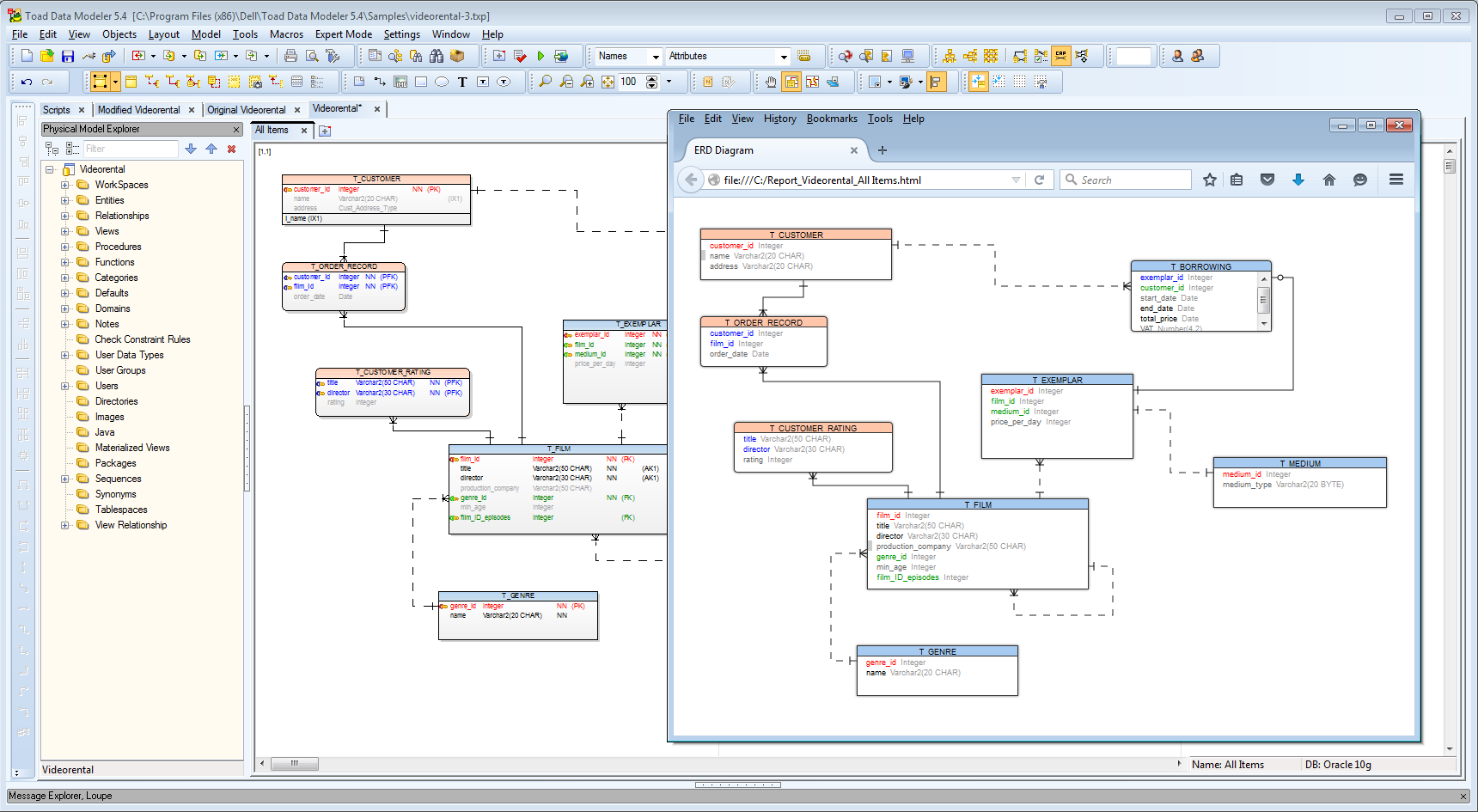 Er Diagram Using Toad For Oracle