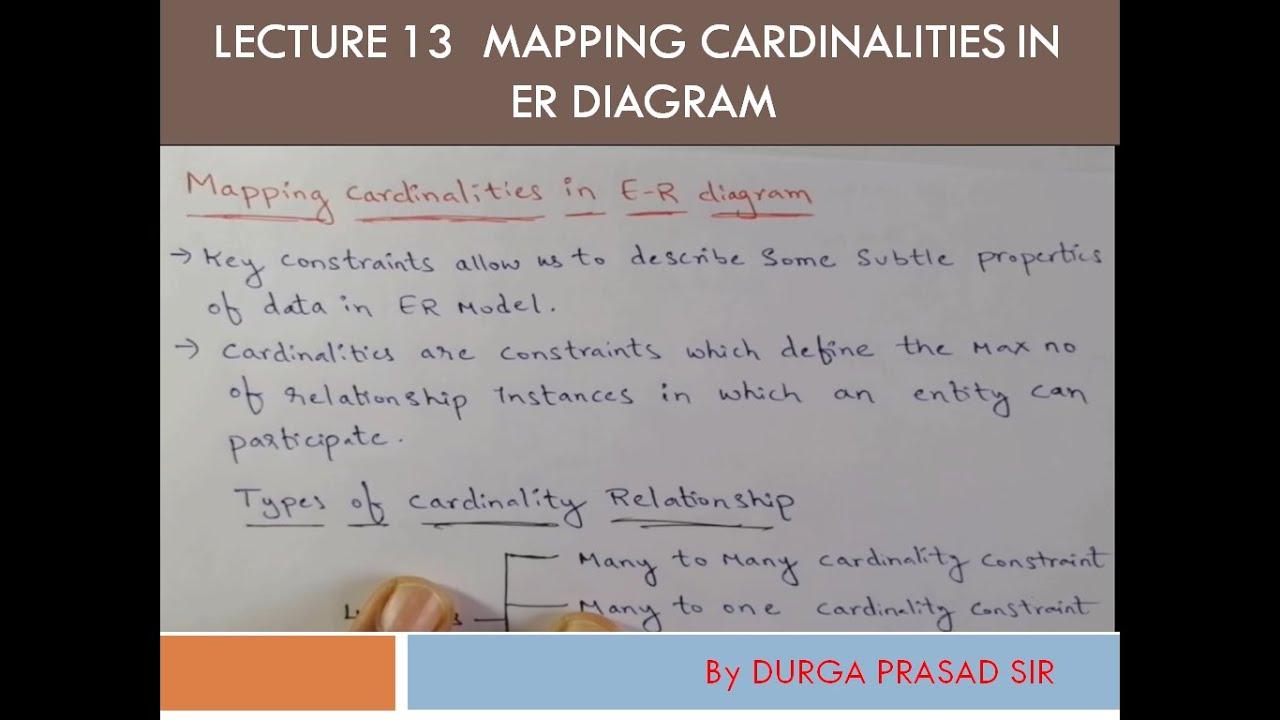 Mapping Cardinalities In Er Diagram / Mapping Cardinalities
