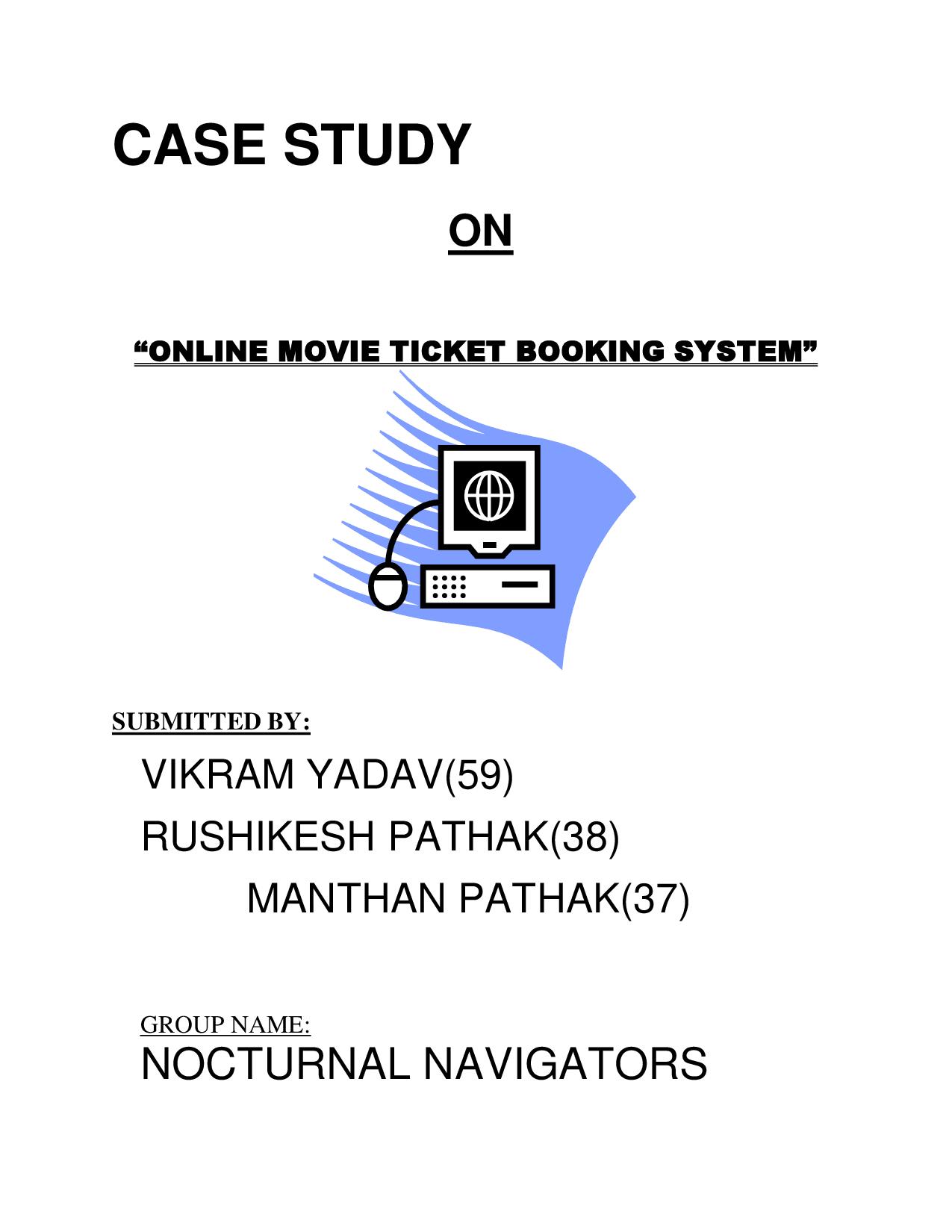 Online Movie Ticket System - Docsity