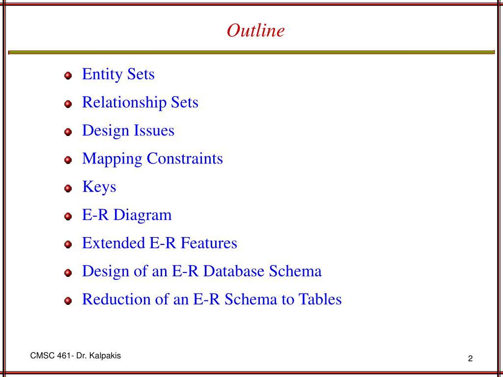 Ppt - Entity-Relationship Model Powerpoint Presentation