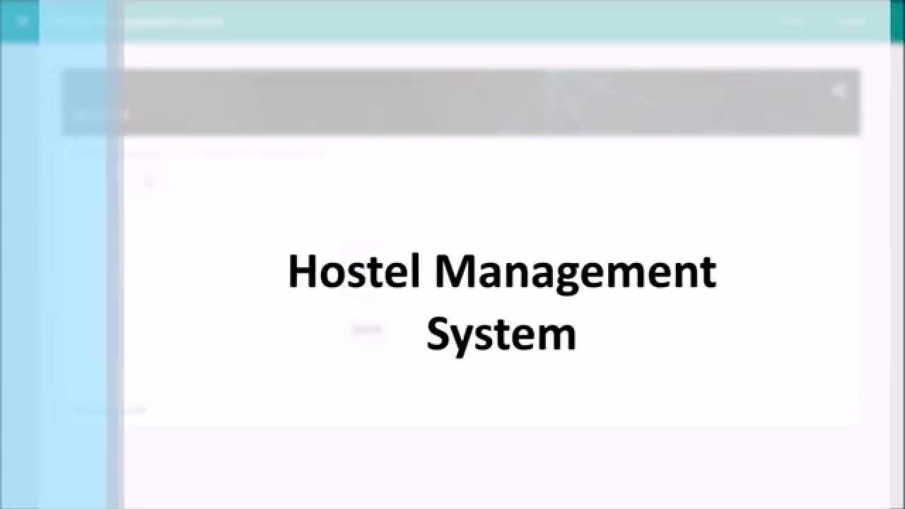 Project ][ Django ]Hostel Management System - Youtube