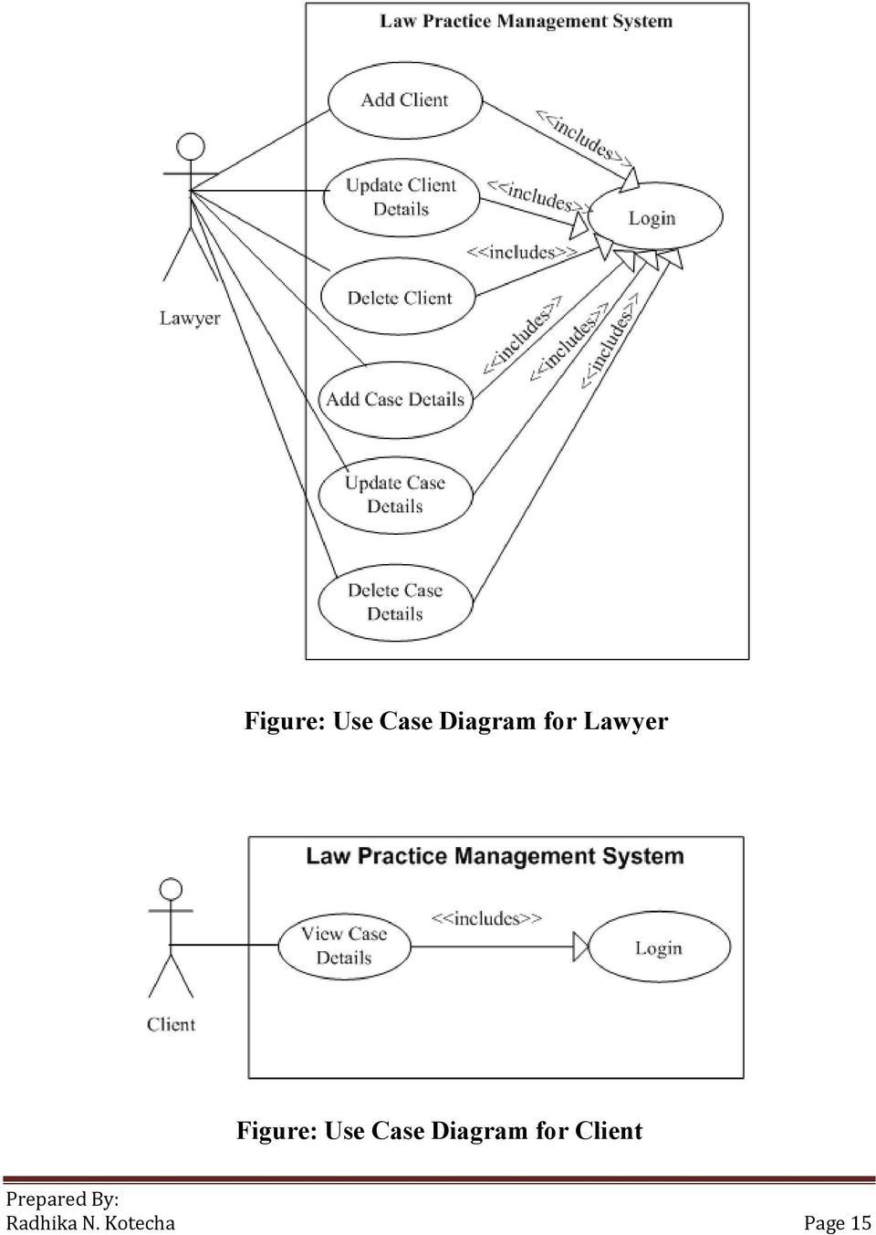 Scenario: Law Office Management System / Law (Legal