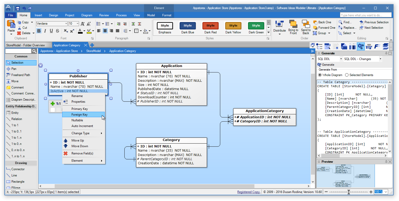 Software Ideas Modeler - Dbms Tools