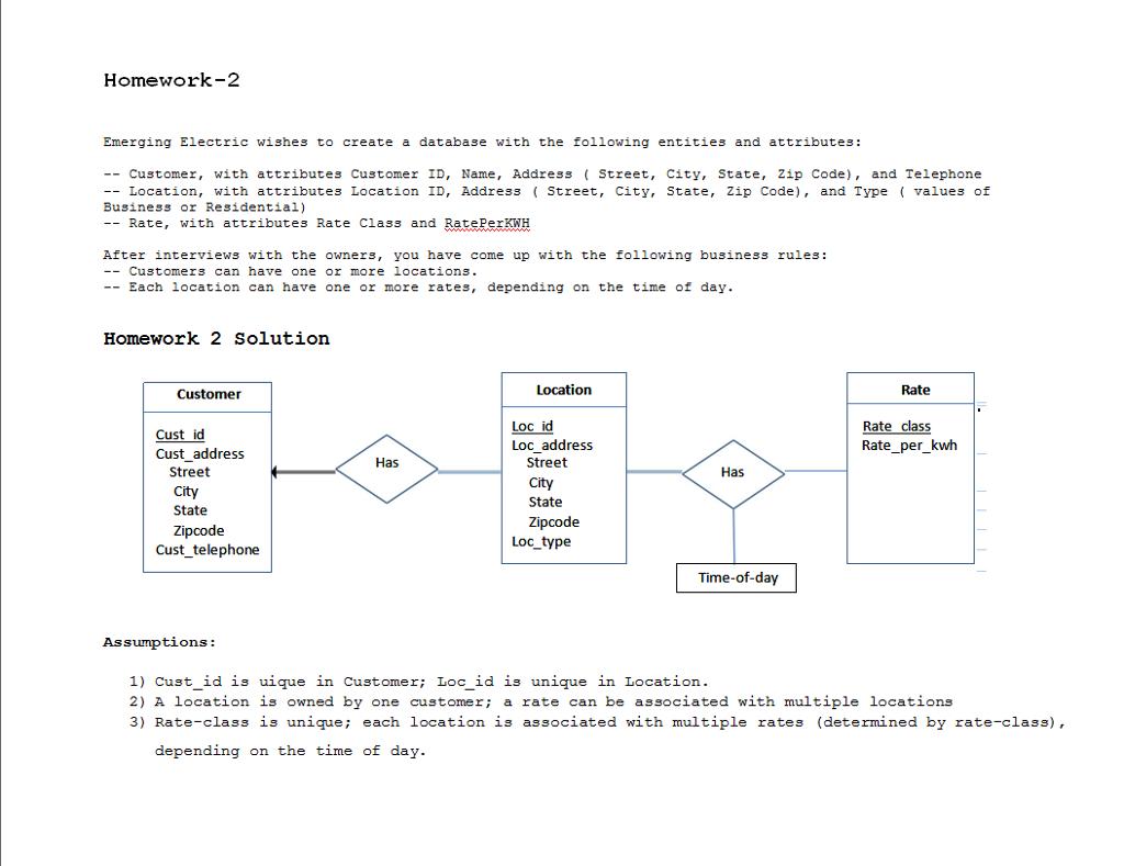 Er Diagram Scenario With Solutions
