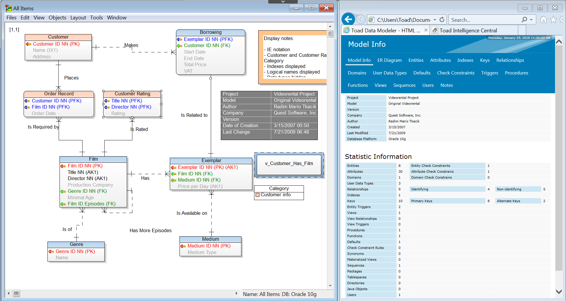Toad Data Modeler - Dbms Tools