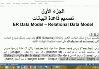 13 Db Ii مراجعة على شرح Er مثال 1المدرس والمواد regarding Entity Relationship Diagram شرح