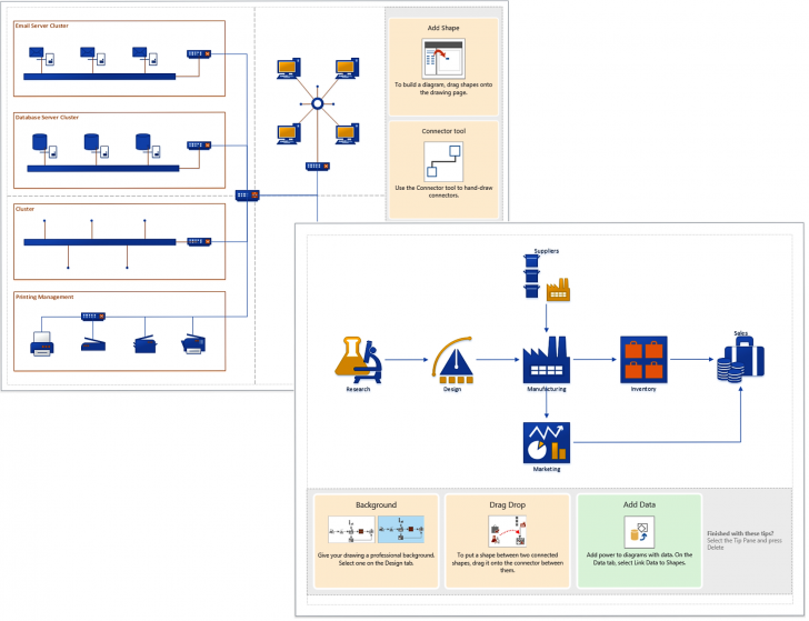 Permalink to 19 Automatic Visio 2013 Network Diagram Examples Download intended for Er Diagram Visio 2017