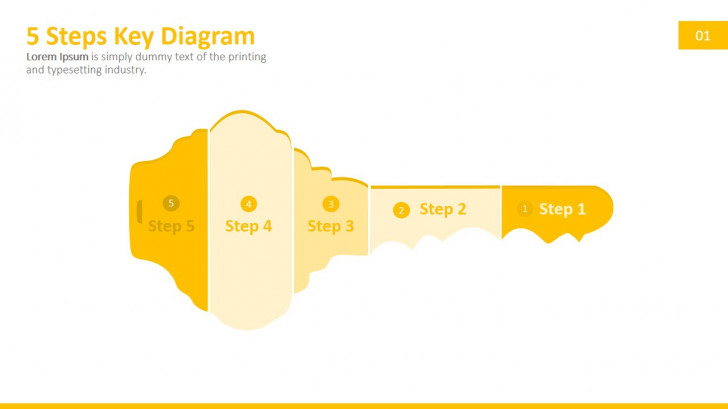 Permalink to 5 Steps Key Powerpoint Diagram intended for Key Diagram