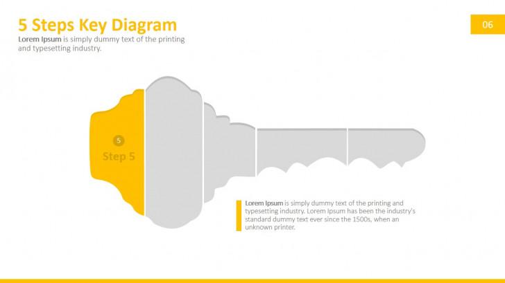 Permalink to 5 Steps Key Powerpoint Diagram – Slidemodel with regard to Key Diagram