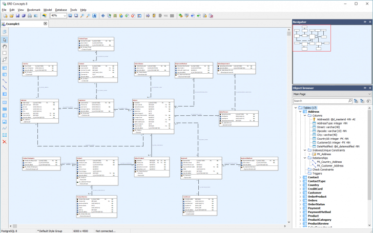 Permalink to 79 Data Modeling Tools Compared – Database Star with regard to Er Diagram Ax 2012
