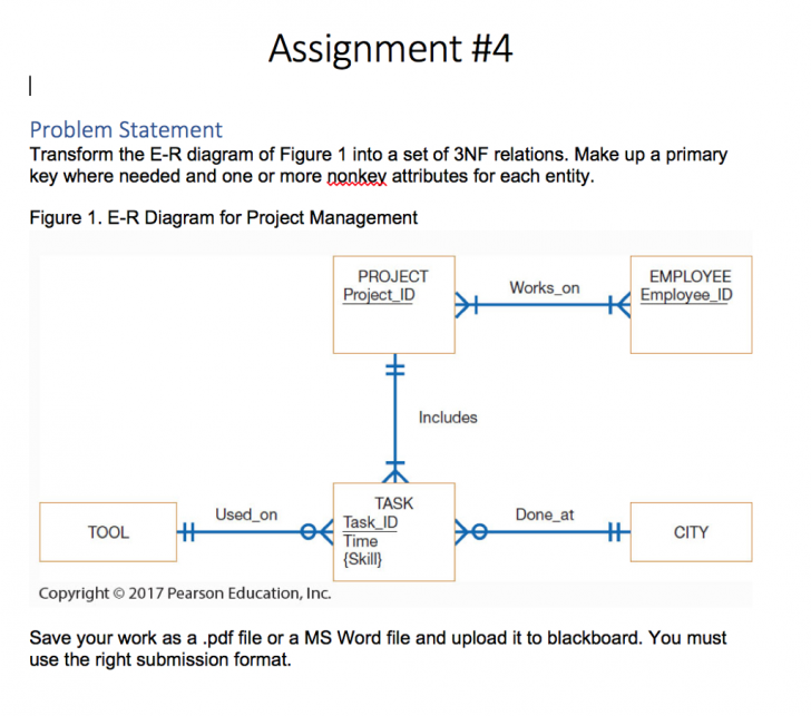 Permalink to Assignment #4 Problem Statement Transform The E-R with regard to Er Diagram Assignment