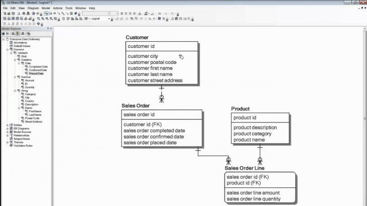 Permalink to Ca Erwin Data Modeler Soup To Nuts Demo – Sandhill throughout Erwin Diagram
