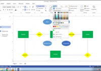 Cara Membuat Erd (Entity Relationship Diagram) Di Microsoft within Er Diagram Microsoft Word