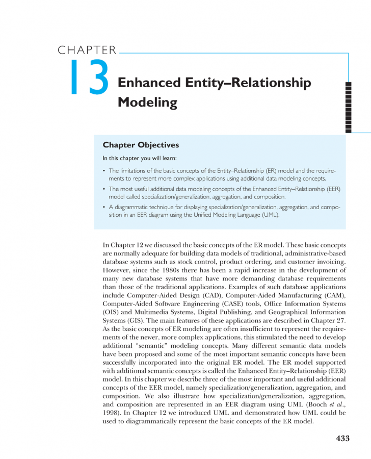 Permalink to Chapter 13 Enhanced Entity–Relationship Modeling – Itc423 pertaining to Er Model Basic Concepts
