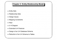 Chapter 2: Entity-Relationship Model with Er Diagram Korth