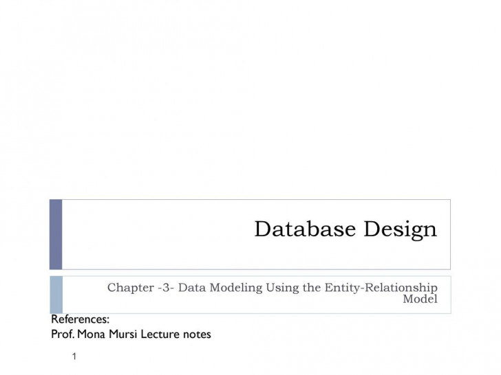 Permalink to Chapter -3- Data Modeling Using The Entity-Relationship with Er Diagram Lecture Notes